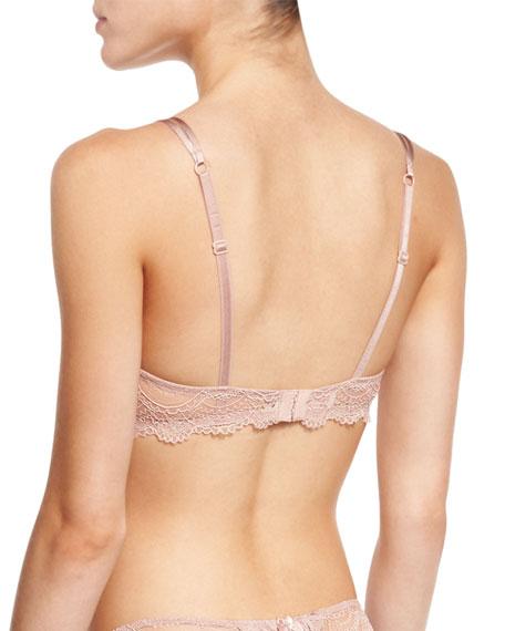 Douceur Fougere Lace Contour Bra, Pink