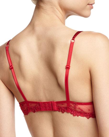 Love Fantasme Lace Demi Bra, Red