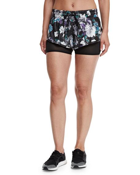 adidas by Stella McCartneyRun Dark Blossom 2-in-1 Shorts