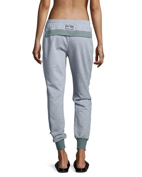 Essentials Drawstring Sweatpants, Chalk Blue Melange