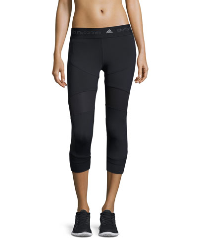 Run Clima 3/4-Length Tights, Black