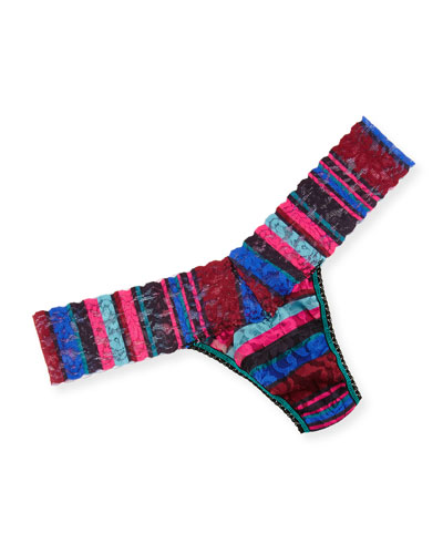 Low-Rise Winter Stripe Thong, Multi