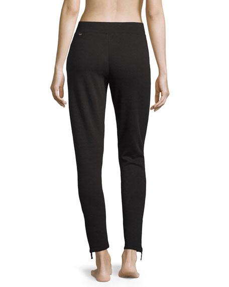 Molly Double Knit Jogger Pants, Black