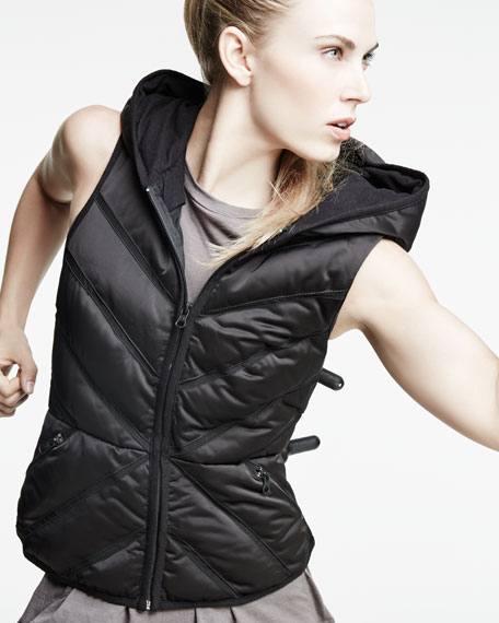 Blanc noir puffer vest