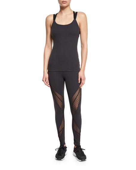 49472cd9847b3 Beyond Yoga Swiss-Dot Mesh-Panel Long Sport Leggings & Polka-Dot Mesh-Back  Sport Camisole & Matching Items | Neiman Marcus