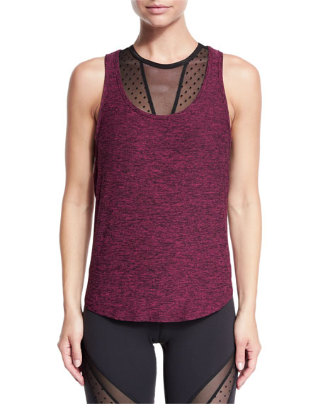 Pull Your Featherweight Tank Top, Black Merlot