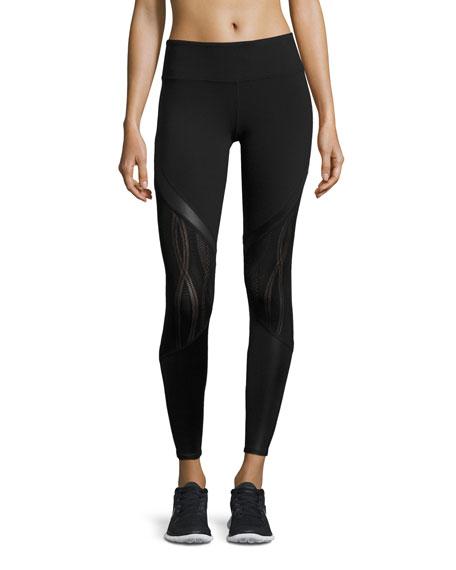 Alo Yoga Vitality Lace-Panel Sport Leggings
