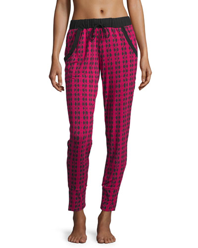 Astaire Jogger Pants, Deep Ruby/Black