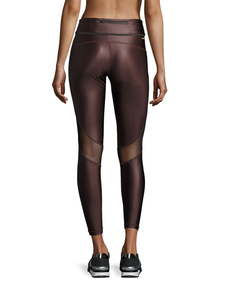 Captain Ankle Tight Leggings, Liquid Burgundy