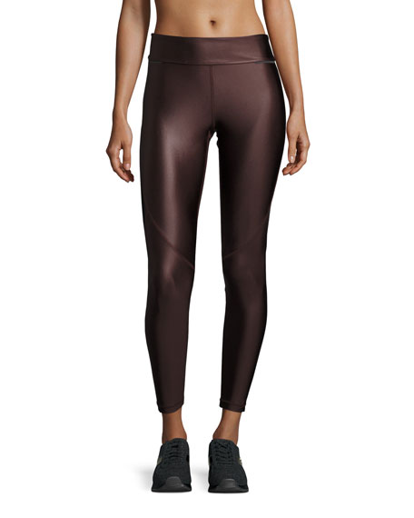 Alala Captain Ankle Tight Leggings, Liquid Burgundy