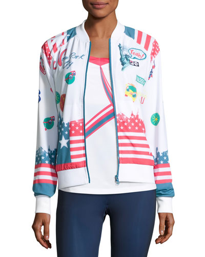 MB Court Central Jacket, White Pattern