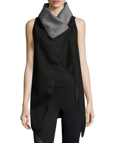 Revolver Reversible Wrap Vest, Gray/Black