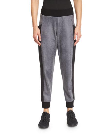 Michi Stardust Paneled Sweatpants, Gray/Black