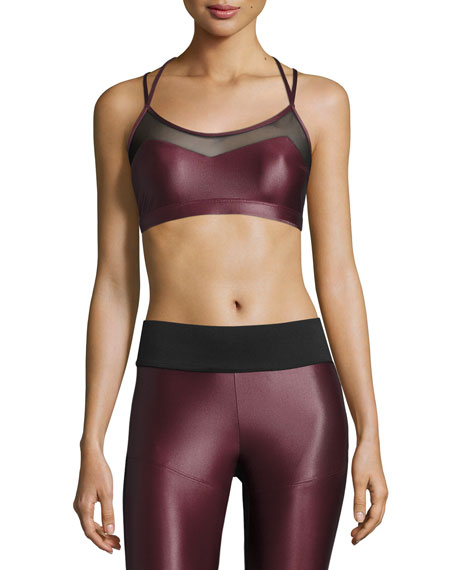 Koral Activewear Breaker Versatility Sports Bra, Wine/Black