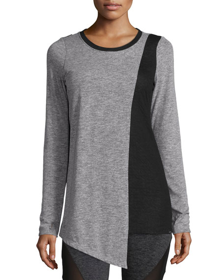 Koral Activewear Elliptic Long-Sleeve Sport Top, Heather