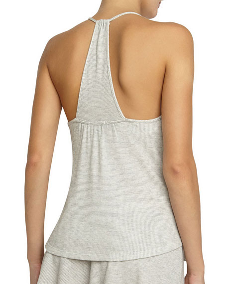 Bailey T-Back Camisole, Marble Gray