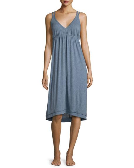 Carmen Jersey Nightgown, Heather Blue