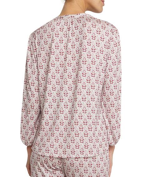 Bindi Blossom Peasant Lounge Top, Multicolor