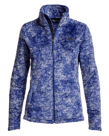 Novelty Osito Fleece Sport Jacket, Indigo Blue Marble