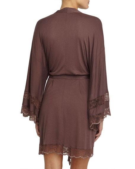 Saskia Kimono Robe, Chestnut