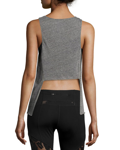 Pacific Tie-Back Athletic Tank, Light Heather Gray