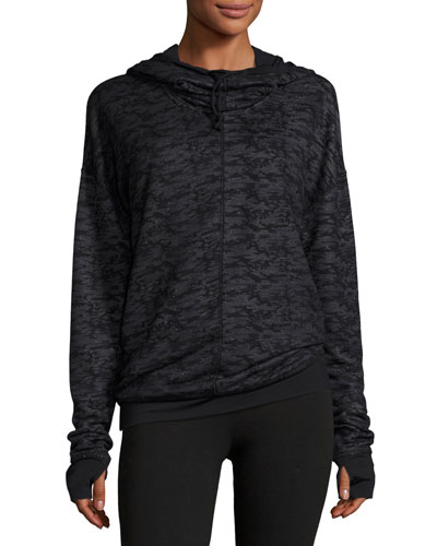 Devotion Funnel-Neck Hooded Sports Jacket, Camo