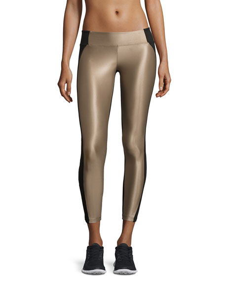 Koral Activewear Helix Shiny Colorblock Athletic Leggings,