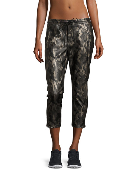 Koral Activewear Caliber Tuxedo Camo-Print Vegan Leather