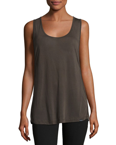 Koral Activewear Passenger Double Layer Tank, Vintage Black/Black