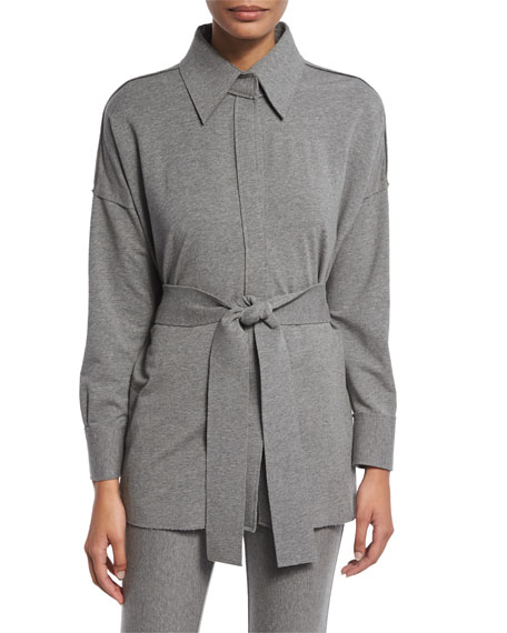 Norma Kamali NK Box Shirt, Medium Heather Gray