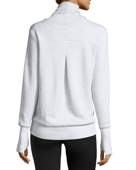 Haze Long-Sleeve Sweatshirt, White Heather