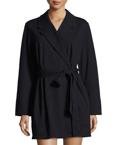 good morning gorgeous short robe, black