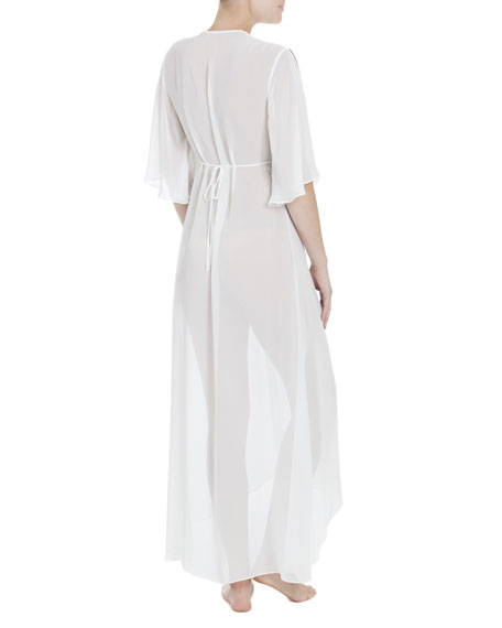 Windsong Chiffon Bridal Robe, Ivory