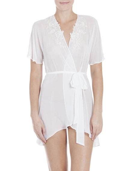 Jonquil Windsong Chiffon Bridal Wrap Robe, Ivory