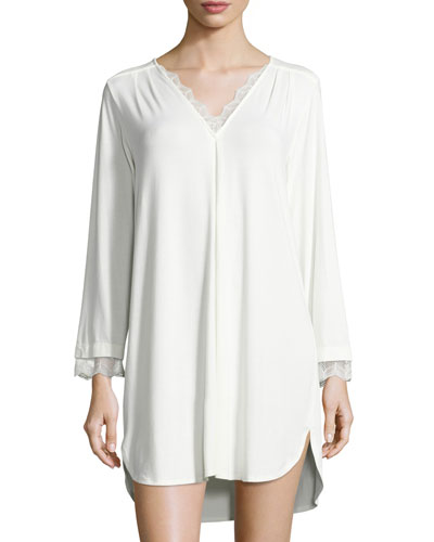 Luxe Jersey Sleep Shirt, Champagne