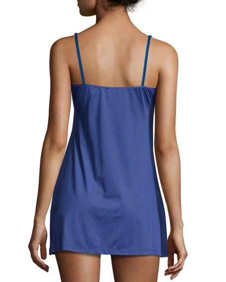 Cosmopolitan Lace-Trim Babydoll, Marine Blue