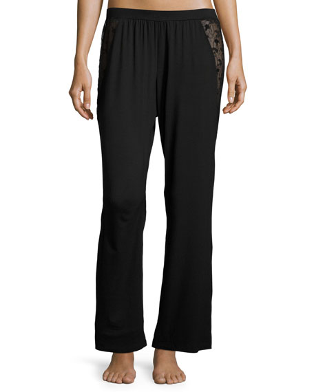 Cosabella Ritz Jersey Lounge Pants, Black
