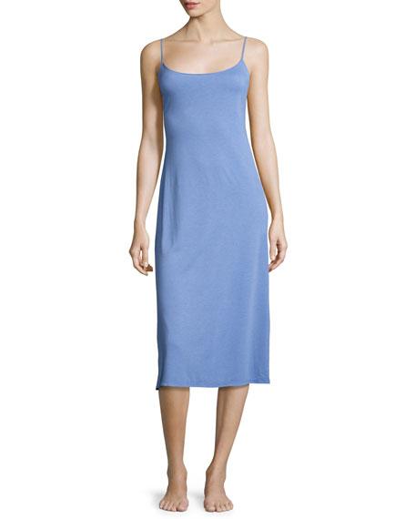 Natori Shangri-La Long Jersey Nightgown, Smoky Iris