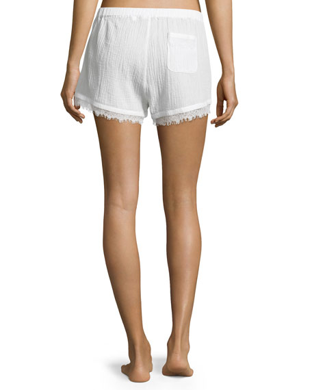Cotton Gauze Shorts, Coconut