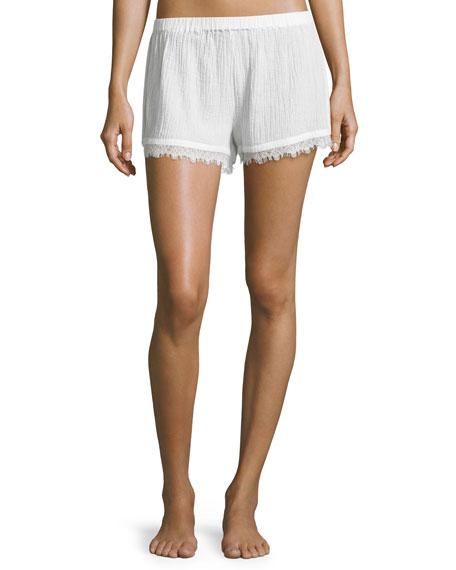 Skin Cotton Gauze Shorts, Coconut