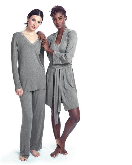 Feathers Long-Sleeve Pajama Set