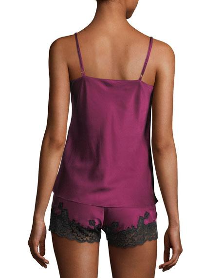 Silk-Blend Camisole Pajama Set