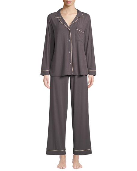 Eberjey Gisele Long Pajama Set, Orange Sherbet