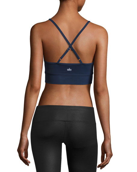 Aria Bra Lace Sports Bra, Rich Navy