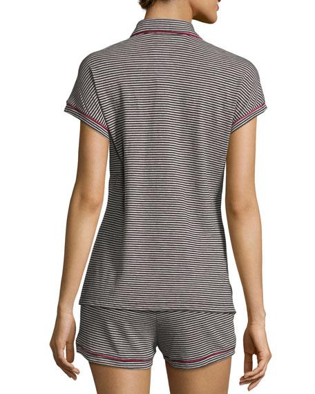 Bella Stripe-Print Boxer Shorts Pajama Sets