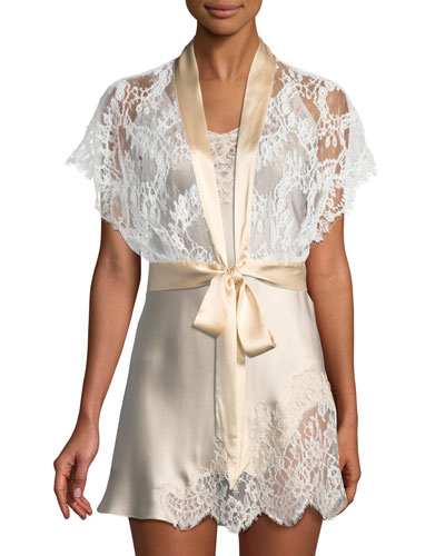 Ever After Lace-Trimmed Bolero Robe