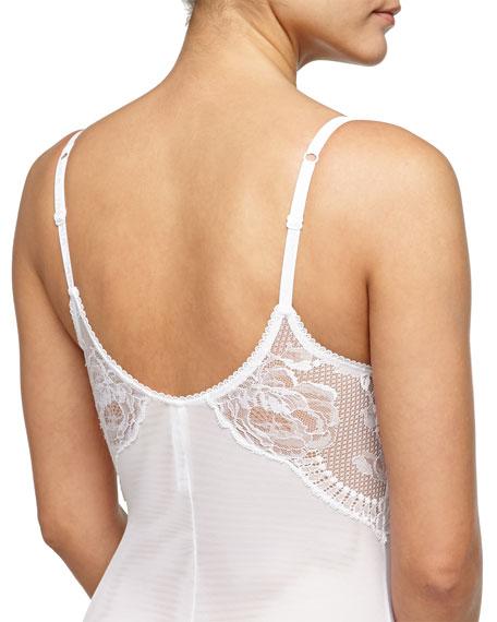 Begonia Lace-Inset Bodysuit, White