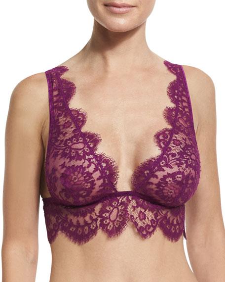 Noir Comme La Robe Special Lace Bralette, Purple