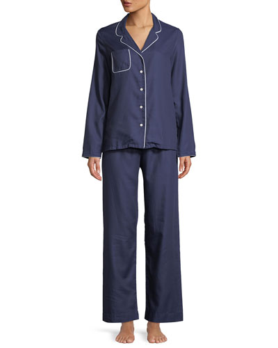 Lombard Classic Piped Pajama Set