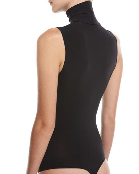 Buenos Aires Turtleneck Thong Bodysuit, Black